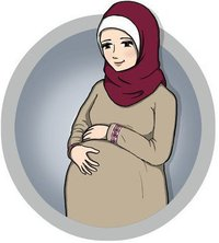 pregnant-muslim-woman-drawing